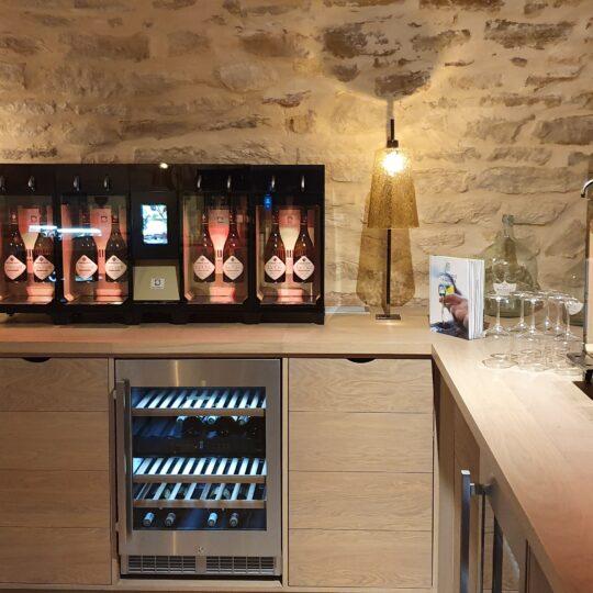 distributeur de vin au verre